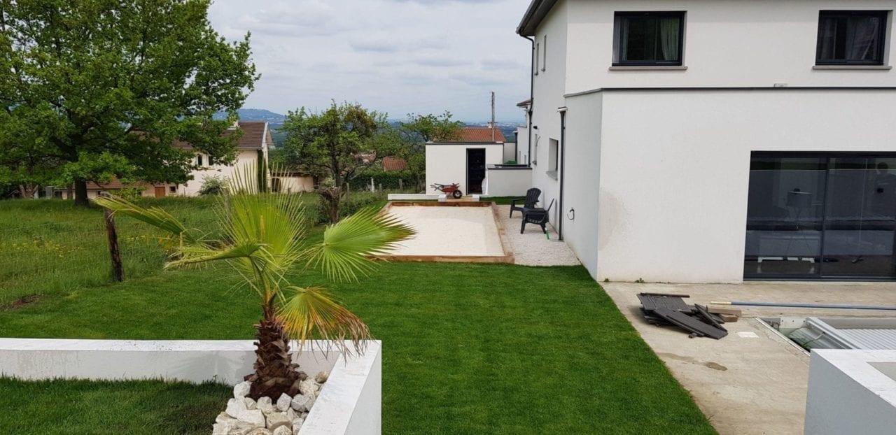 Création d'un jardin d'une maison moderne