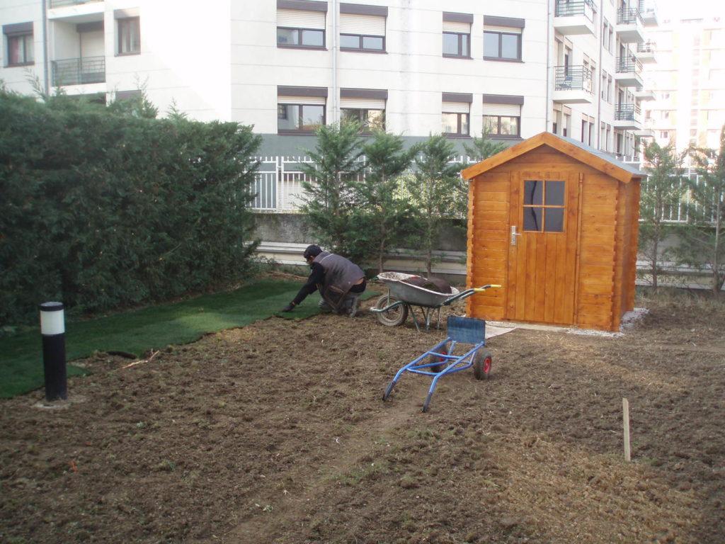 Abris de jardin en bois, en kit