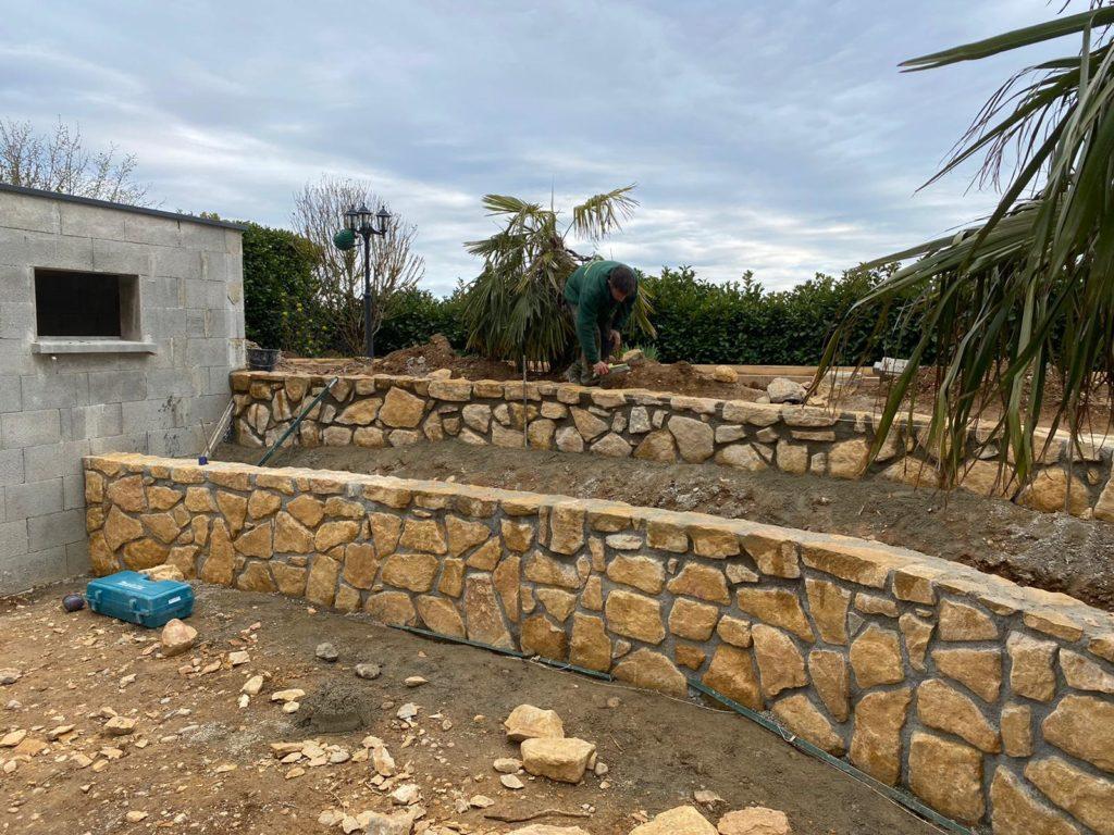 Un projet de maçonnerie paysagère